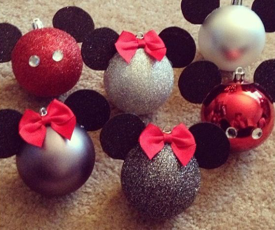Minnie and Micky Mouse Balls: Made with felt, little hair bows and small jewels